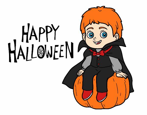 Dibujo Vampiro para Halloween pintado por AgusNet