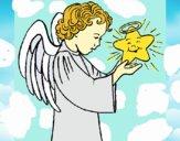 Dibujo Ángel y estrella pintado por maypro113