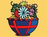 Dibujo Cesta de flores 11 pintado por CLEONEFER