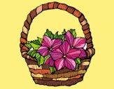 Dibujo Cesta de flores 2 pintado por CLEONEFER