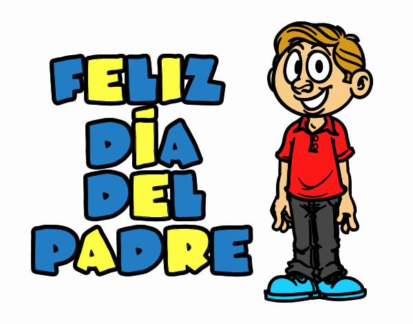 Dibujos Del Dia Del Padre Coloreados: Dibujo De Feliz Día Del Padre Pintado Por En Dibujos.net