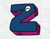 Dibujo Letra Z pintado por EvelynLuce