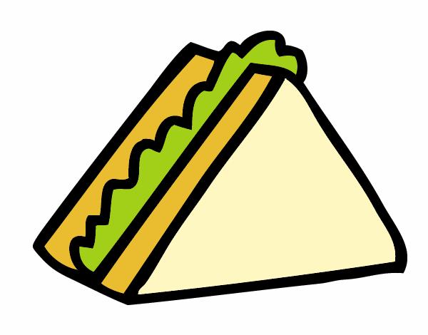 Dibujo Medio sandwich pintado por albabm24