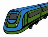 Dibujo Tren de alta velocidad pintado por Macneli