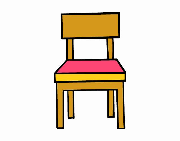Dibujo de una silla de comedor pintado por en for Dibujo de comedor escolar