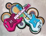 Dibujo Guitarras eléctricas pintado por mandalis