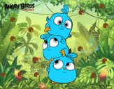 Dibujo Las crias de Angry Birds pintado por LosPrimos6