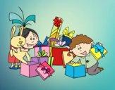 Los niños y los regalos