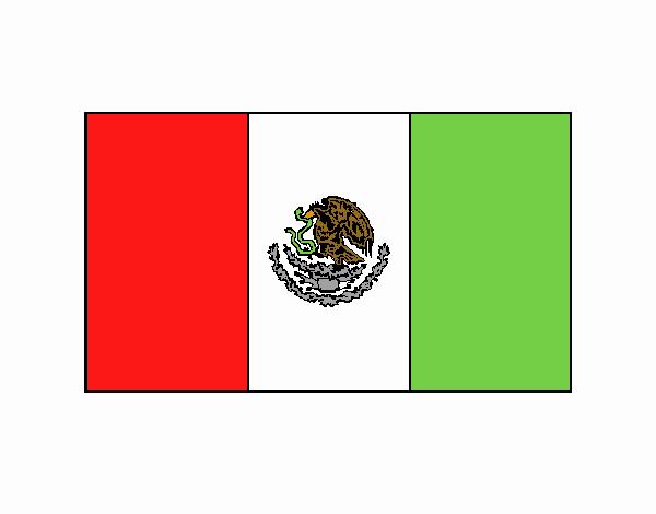 Dibujo De La Bandera De Mexico Pintado Por En Dibujos.net