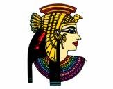 Dibujo Perfil de Cleopatra pintado por 2017