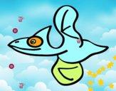 Pterodáctilo volando