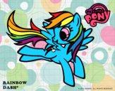 Dibujo Rainbow Dash pintado por luis_pro99