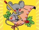 Ratón con lapiz y papel