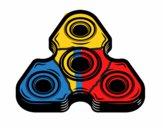 Dibujo Spinner triangular pintado por LosPrimos6