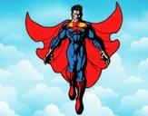 Dibujo Un Super héroe volando pintado por LosPrimos6