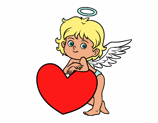 Dibujo De Cupido Y Un Corazón Pintado Por En Dibujos.net