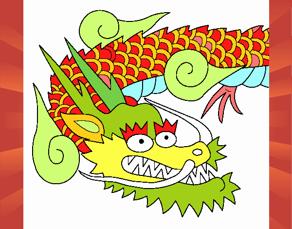 Dibujo Dragón japones II pintado por PudinGirl