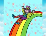 Duende en el arco iris