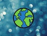 Dibujo El planeta tierra pintado por Maddilanda