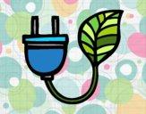 Dibujo Electricidad Ecológica  pintado por mandalis