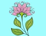 Dibujo Flor decorativa pintado por Luchia2008