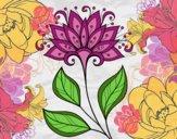 Dibujo Flor decorativa pintado por 104gh