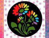 Dibujo Grabado con flores pintado por yiyii