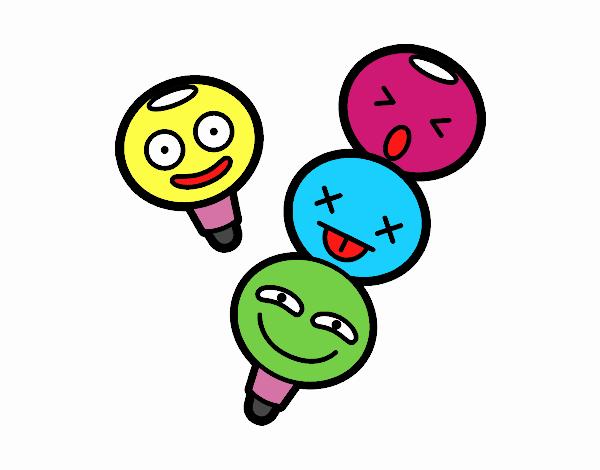 Lápices de colores apilables