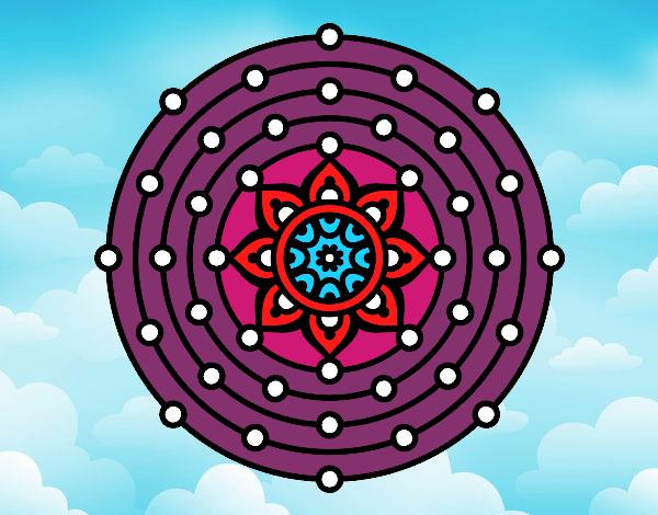 Dibujo Mandala sistema solar pintado por giancaros