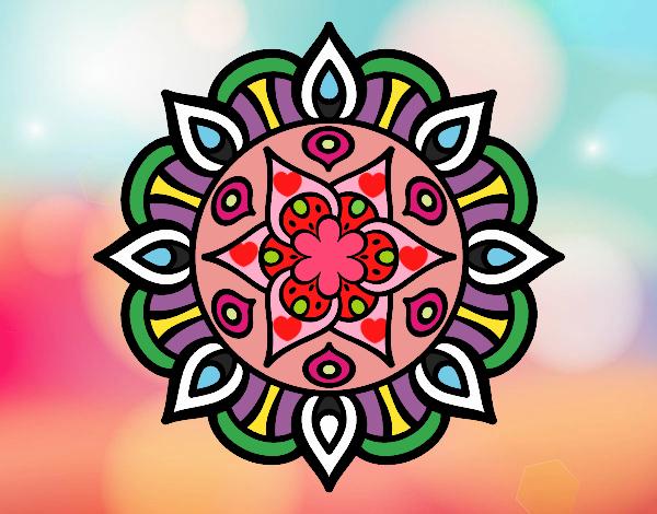 Dibujo Mandala vida vegetal pintado por stefanyvam