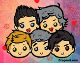 Dibujo One Direction 2 pintado por Sophlozano