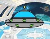 Dibujo OVNI extraterrestre pintado por Moi777