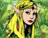 Dibujo Princesa elfo pintado por PudinGirl