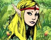 Dibujo Princesa elfo pintado por Dariabonit