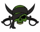 Dibujo Símbolo pirata pintado por alexanderr