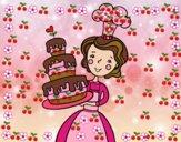 Dibujo Tarta de cumpleaños casera pintado por vagal