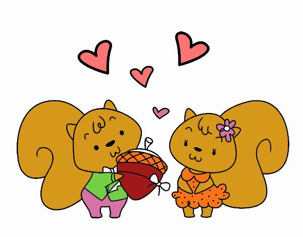 Ardillas enamoradas