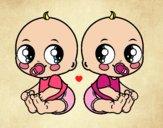 Dibujo Bebés gemelos pintado por yhesed