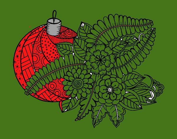 Bola de Navidad con decoración