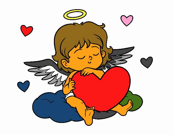 Cupido con corazón