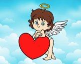 Dibujo Cupido y un corazón pintado por Moi777