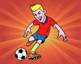 Dibujo Delantero de futbol pintado por moisesb