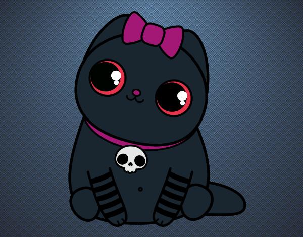 Dibujo Gatito emo pintado por lucia23432