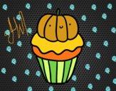 Dibujo Halloween cupcake pintado por Elisheep