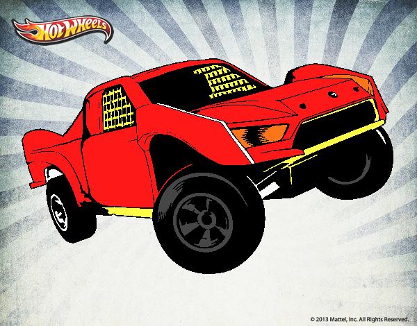 Dibujo Hot Wheels Ford pintado por lucia23432