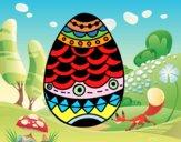 Dibujo Huevo de Pascua estilo japonés pintado por PudinGirl