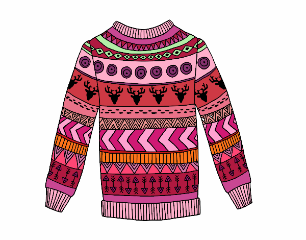 Dibujo Jersey de lana estampado pintado por AgusNet