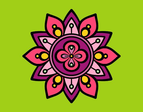 Mandala flor de loto