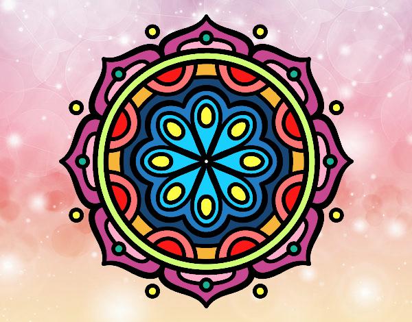 Dibujo Mandala para meditar pintado por delfivin