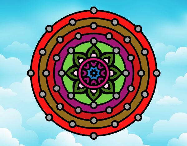 Dibujo Mandala sistema solar pintado por Francesita